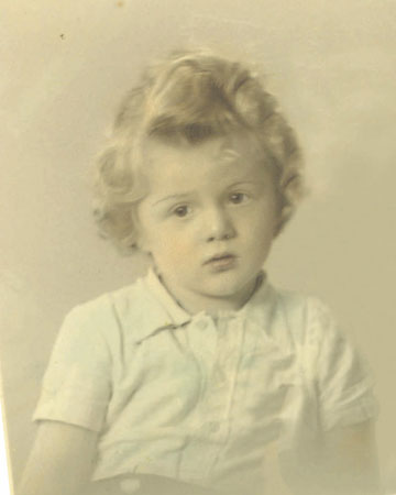 Philhelm at the age of 4 in 1947